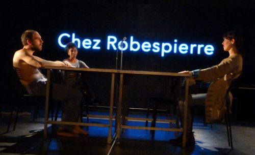 © ensad 2016 –Danton (Charles-Henri Wolff), Robespierre (Jessie Chapuis) et Paris (Olga Mouak).