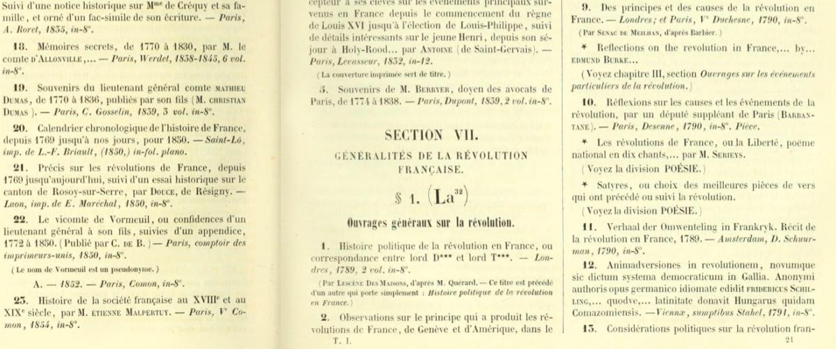 Vers un catalogue numérique de la Révolution